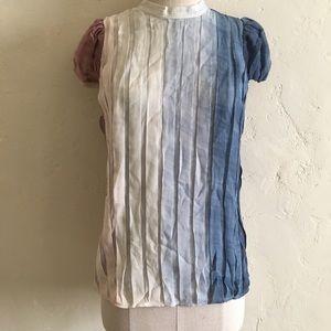 BCBGMAXAZRIA Silk Chiffon Woven Top